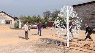 Немножко видео, об установке свадебного дерева