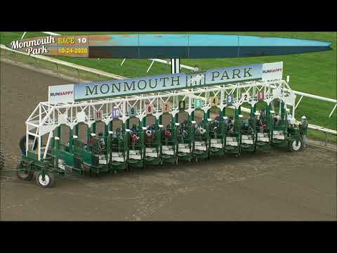 video thumbnail for MONMOUTH PARK 10-24-20 RACE 10
