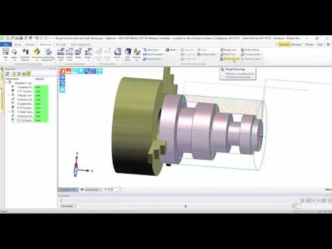 Canned cycle for Roughing Groove cycle | Edgecam 2017R1