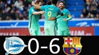 alaves 0 6 barcelona goals and highlights la liga 11 2 2017