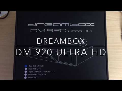Dreambox DM920 Ultra HD unboxing