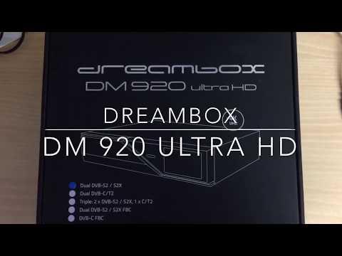 Dreambox DM920 Ultra HD unboxing - YouTube