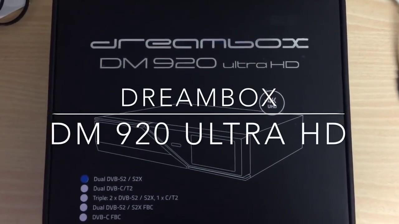 Dreambox DM920 Ultra HD unboxing