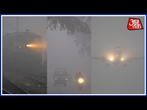 Thick Fog In Delhi, North India, Flight And Train Operations Affected