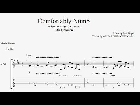 Kfir Ochaion - Comfortably Numb TAB - electric guitar tab - PDF ...
