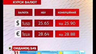 Курс валют та ціни на бензин за 31.08.2016