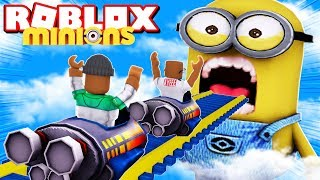 2 PLAYER ROCKET CART RIDE INTO THE MINIONS FOR ADMIN IN ROBLOX