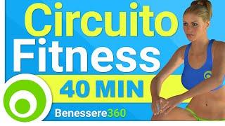 Allenamento a Circuito per Dimagrire e Tonificare il Corpo - Workout Total Body di 40 Minuti