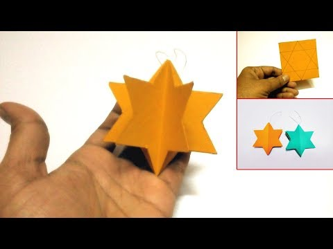 DIY How to make Star for Christmas Decoration | 3D Christmas star with paper | Paper Crafts