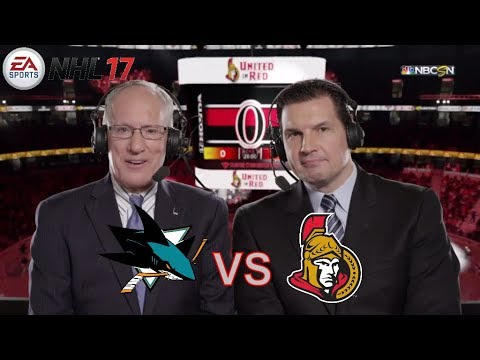 NHL 2017 - ПЕРВАЯ ИГРА: SAN JOSE SHARKS vs OTTAWA SENATORS