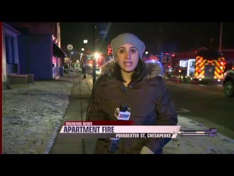 LIVE Apartment Fire Chesapeake VA