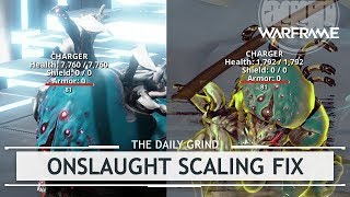 Warframe MASSIVE Onslaught Scaling Changes