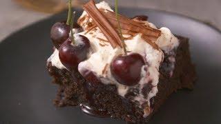 Super Saucy Cherry Poke Cake