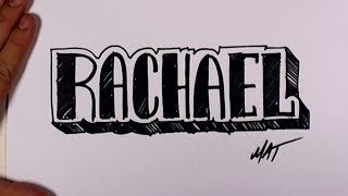 Graffiti Writing Rachael Name Design #40 in 50 Names Promotion