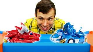Игры с Трансформерами – Машинки Монкарт и Человек Паук! – Видео игры гонки для мальчиков.