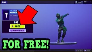 HOW TO GET INFINITE DAB EMOTE FOR FREE! (Fortnite Old Emotes)