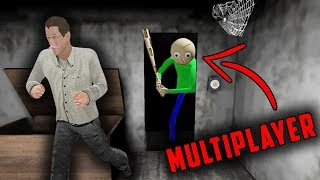Baldi's Basics in Granny Horror Game MULTIPLAYER! (Baldi's Basics vs Granny Mobile Horror Game)