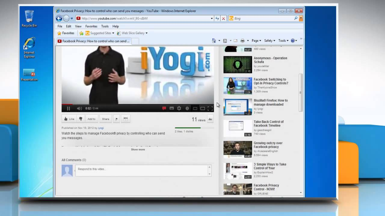 How To Embed A Youtube� Video In A Powerpoint 2013 Presentation In Windows�  7