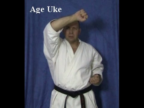 Learning Karate Age Uke Upper Block