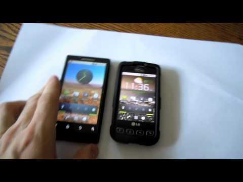 Motorola Triumph Vs. LG Optimus V (first look)