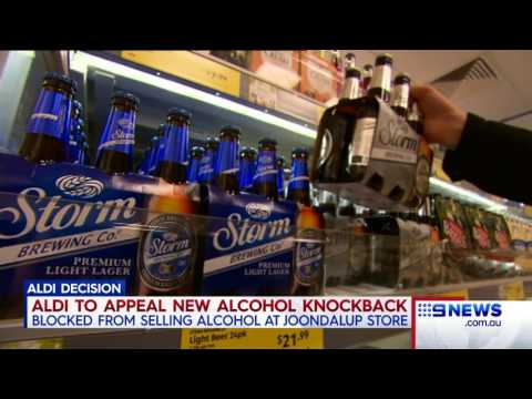 Alcohol Sale Blocked | 9 News Perth
