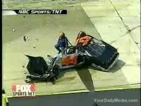 Car Wrecks Wallpaper Alomost Fatal Nascar Crash Youtube