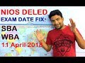 NIOS D.EL.ED Exam Date Live update, SBA, WBA, question Answer | Online Partner