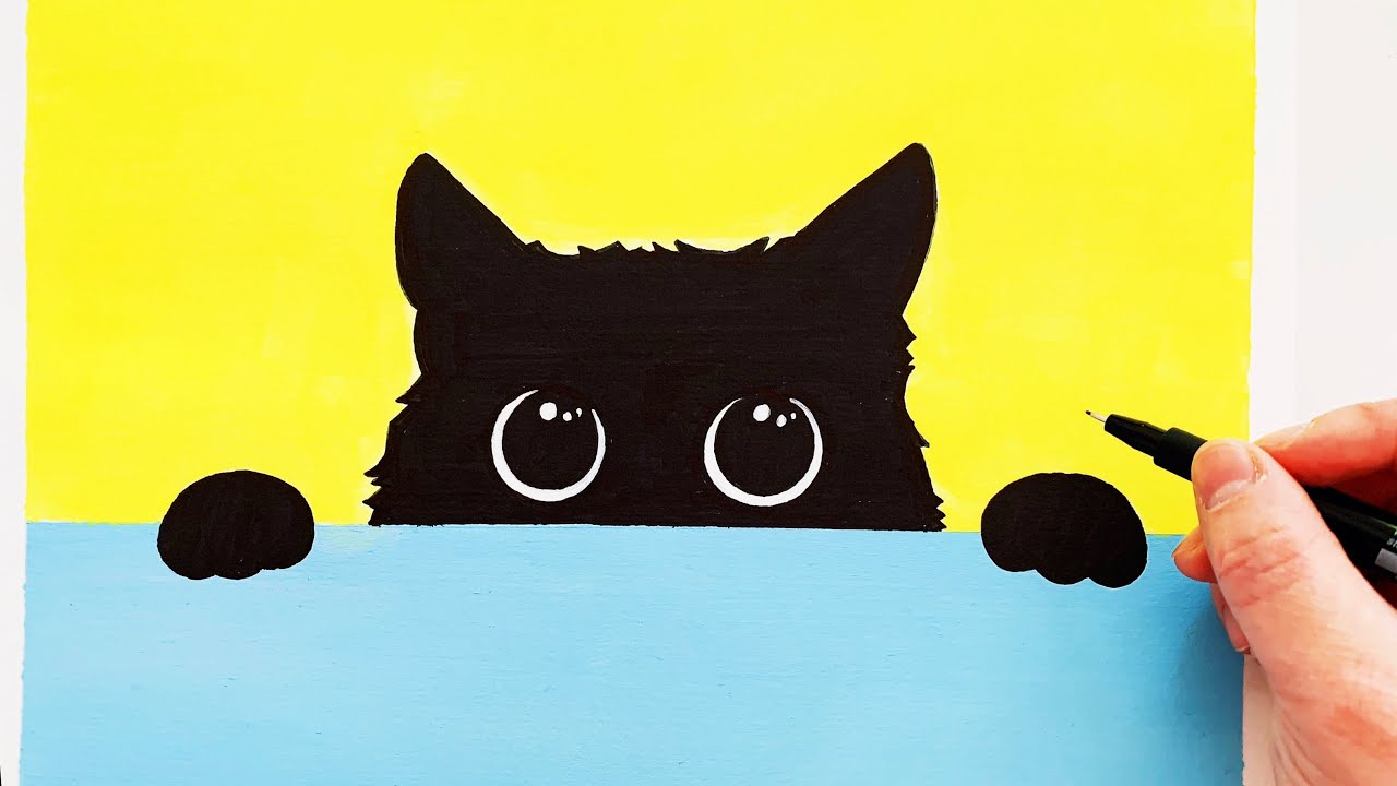 Cat Cartoon Cat Drawing Easy And Fun Painting Process Youtube