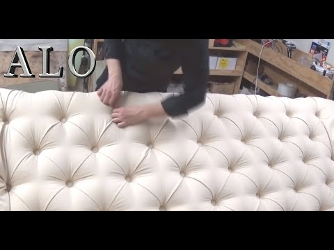 DIY-HOW TO UPHOLSTER A TUFTED HEADBOARD. LAURA L. - ALO Upholstery