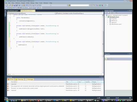 WPF simple web browser