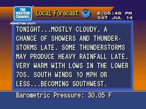 WeatherSTAR 4000 Emulator V3 - July 14, 2012