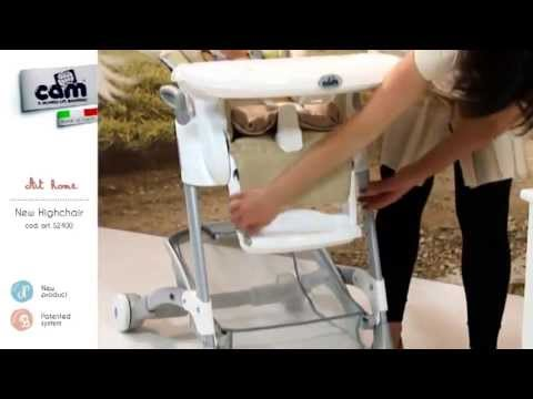 Обзор стульчика для кормления Cam Istante