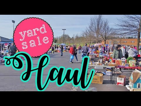 Yard Sale HAUL & Follow Me Around! Vlog 💜 Come See What I Found!