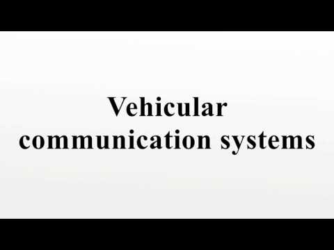 Vehicular communication systems