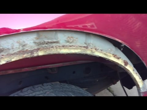 08 Ford F150 wheel wells and fenders rust repair with patch panels and rocker sandblasting
