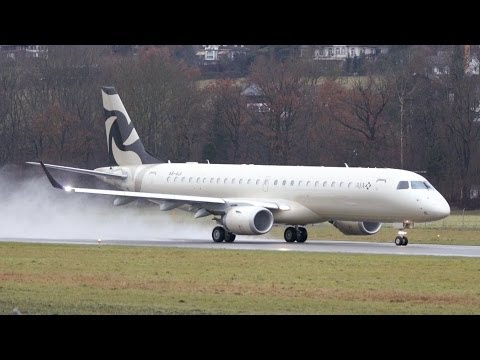 Embraer Lineage 1000 (ERJ-190-100 ECJ) - Al Jaber Aviation -  Take Off at Airport Bern-Belp