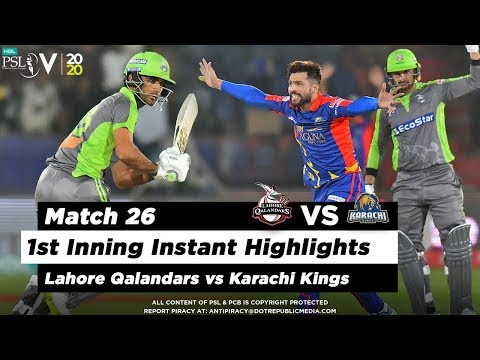 Lahore Qalandars vs Karachi Kings | 1st Inning Highlights | Match 26 | 12 March | HBL PSL 2020