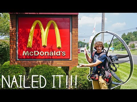 Flying To McDonald's On My Paramotor