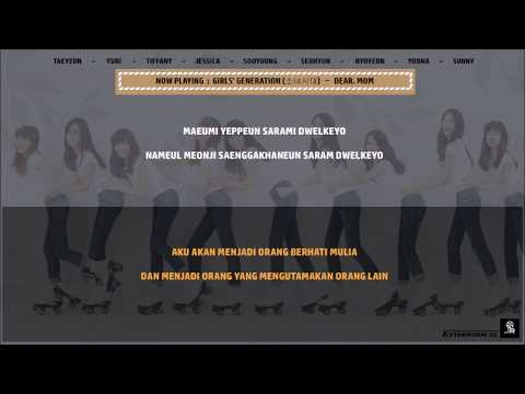 SNSD (소녀시대) - 'DEAR. MOM' Lyrics (SUB INDO)