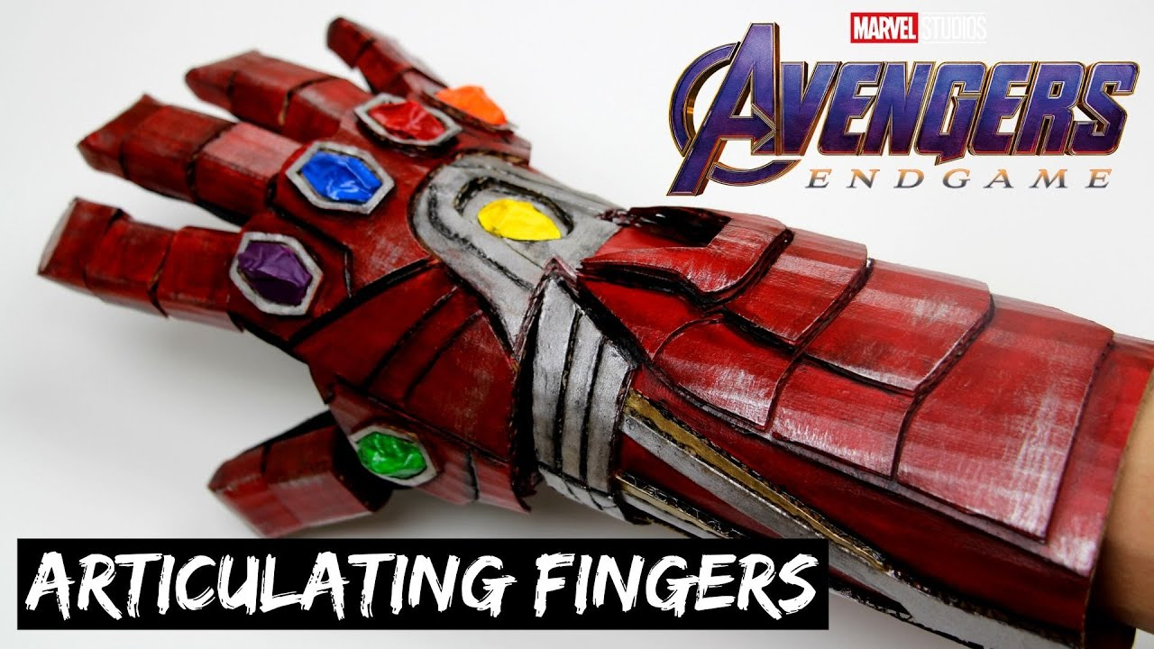 How To Create IRON MAN's Infinity Gauntlet Out Of Cardboard