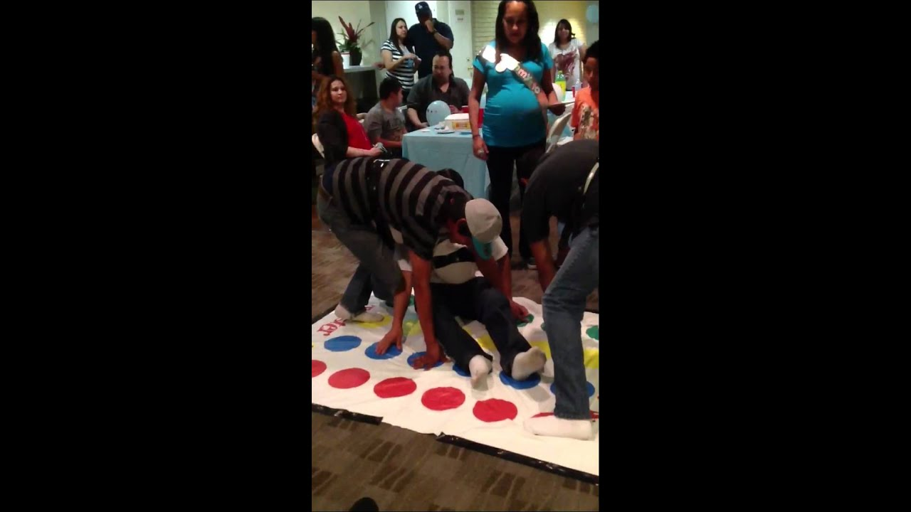 Maria S Baby Shower Games Pregnant Twister Youtube
