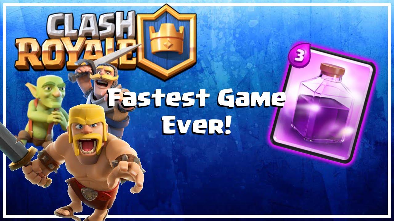 Clash Royale - Clan Spotlight: Kington - Fastest Game Ever - YouTube