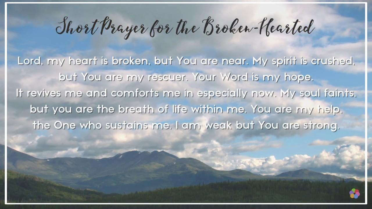 Short Prayer for the Broken-Hearted