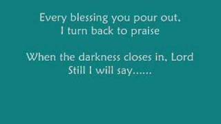 Tree63 - Blessed be Your Name (with Lyrics)