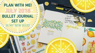July Plan With Me + My NEW Bullet Journal