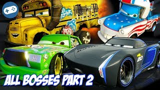 Cars 3 Driven To Win All Bosses Hard Mode Gameplay Part 2 All Boss Battles