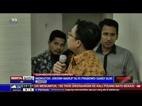Survei LSI: Jokowi-Amin Unggul 54,9 Persen