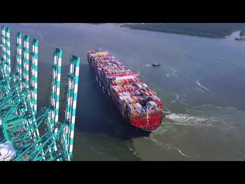 MSC Gulsun World's Largest Container Ship Calls at  Port of Tanjung Pelepas 27 July 2019