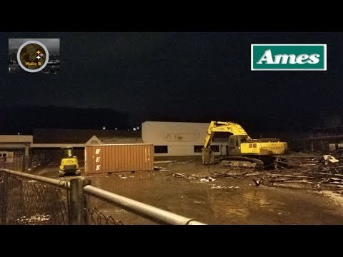 Demolition Work Beginning At Abandoned Ames & Shopping Center Economy, Pa