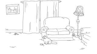 Мультик про кота Саймона серия:лазерная указка